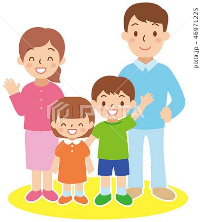若い家族 46971225