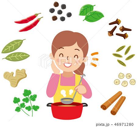 スパイス料理をする女性 46971280