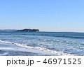 江の島 辻堂海岸 波の写真 46971525