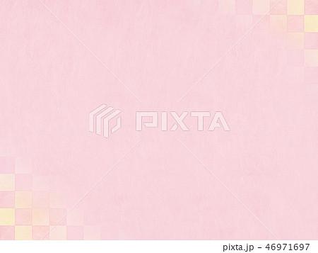 和-和風-和柄-背景-和紙-春-ピンク 46971697