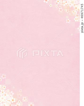 和-和風-和柄-背景-和紙-春-桜-ピンク 46971745