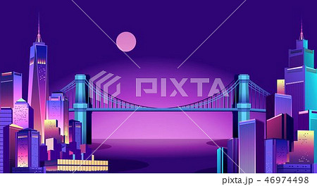 abstract neon city 46974498