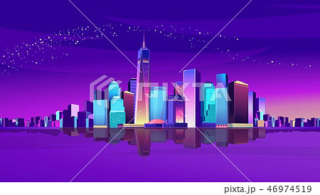 abstract neon city 46974519