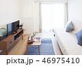 テレビ ソファ インテリアの写真 46975410