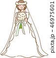 花嫁 ウエディング ブーケのイラスト 46975601