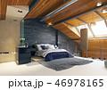 インテリア ロフト 屋根裏のイラスト 46978165