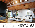 Modern chalet interior 46978168