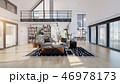 空間 部屋 インテリアのイラスト 46978173