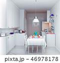 modern cozy kitchen interior 46978178