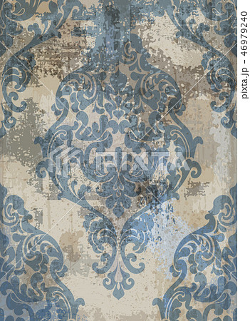 Damask texture grunge background Vector 46979240