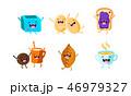 ベクトル キャラクター 文字のイラスト 46979327