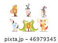 ペット 愛玩動物 キャラクターのイラスト 46979345