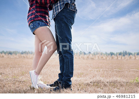 Embracing couple hugging happy 46981215