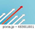 矢印 上昇 アップのイラスト 46981801