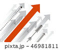 矢印 上昇 アップのイラスト 46981811
