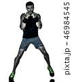 拳闘 人影 影の写真 46984545
