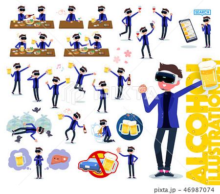 flat type VR goggle men_alcohol 46987074