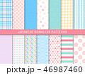 和柄 パターン 柄のイラスト 46987460