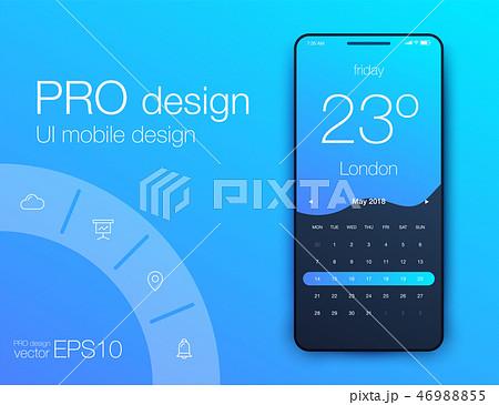 Weather Forecast App Ux Ui Design. Stock vector 46988855