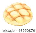 パン メロンパン 水彩のイラスト 46990870
