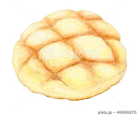 パン メロンパン 手描き 水彩 46990870