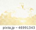鶴 大波 金箔のイラスト 46991343