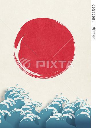 和紙の風合いを感じる日本画 46991349