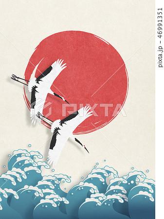 和紙の風合いを感じる日本画 46991351