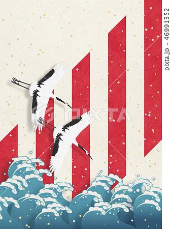 和紙の風合いを感じる日本画 46991352