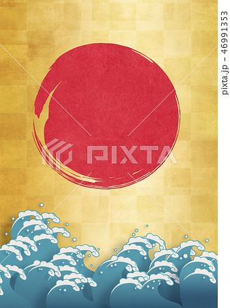 和紙の風合いを感じる日本画 46991353