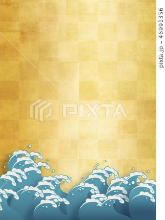 和紙の風合いを感じる日本画 46991356