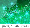 日本地図 株式投資 株価のイラスト 46991449