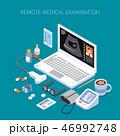 メディカル オンライン ヘルスケアのイラスト 46992748