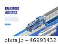電車 列車 物流のイラスト 46993432