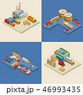 船舶 流通 配達のイラスト 46993435