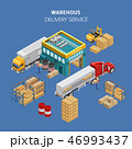 貨物自動車 ストレージ 倉のイラスト 46993437