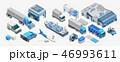 貨物自動車 物流 流通のイラスト 46993611