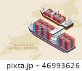船 貨物 運送のイラスト 46993626
