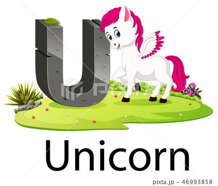 zoo animal alphabet U for Unicorn  46993858
