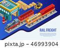 線路 鉄道 貨物のイラスト 46993904