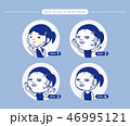 お面 面 マスクのイラスト 46995121