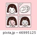 お面 面 マスクのイラスト 46995125