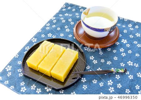 芋羊羹、芋ようかん、いも羊羹、イモ羊羹、いもようかん、お茶、日本茶 46996350