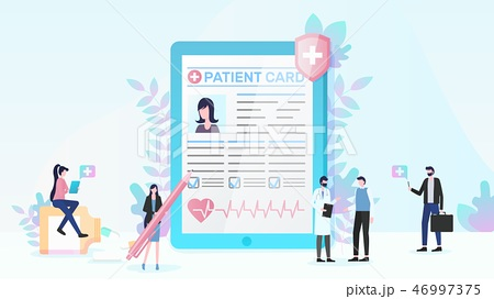 Health Insurance and Medical Services Flat Vector 46997375