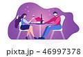 レストラン 飲食店 ロマンチックのイラスト 46997378
