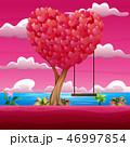 バレンタイン ブランコ 振るのイラスト 46997854