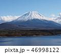 富士山 冠雪 富士の写真 46998122
