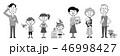 家族 ファミリー ペットのイラスト 46998427
