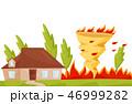 トルネード 竜巻 火事のイラスト 46999282