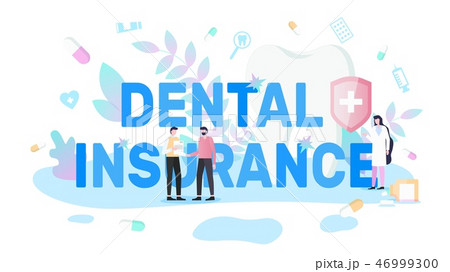 Taking Policy of Dental Insurance Vector Banner 46999300